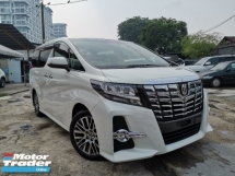2015 TOYOTA ALPHARD 2.5 SC 2POWER DOOR/POWER BOOT/PILOT SEATS UNREG