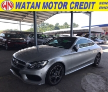 2016 MERCEDES-BENZ C-CLASS C200 2.0 COUPE AMG PREMIUM PLUS MEMORY SEAT POWER BOOTH 2016 UNREG