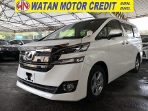 2015 TOYOTA VELLFIRE 2.5 X 7 SEATERS PRICE INCLUSIVE SST JAPAN UNREG
