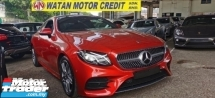 2018 MERCEDES-BENZ E-CLASS E300 2.0 CC AMG COUPE FULLSPEC.UNREG.TRUE YEAR CAN PROVE.INCLUDED SST.PANAROMIC ROOF.MEMORY SEAT.ORI AMG BODYKIT N RIM.PRE CRASH.LANE ASSIST.REVERSE CAMERA N ETC.FREE WARRANTY N MANY GIFTS