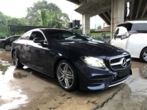 2018 MERCEDES-BENZ E-CLASS Unreg Mercedes Benz E300 2.0 AMG Coupe Sport Panaromic Roof Camera Paddle Shift 9G
