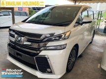 2017 TOYOTA VELLFIRE 2.5ZG FULLU LOADED 0%SST JBL SOUND HOME THEATER TWIN SUNROOF PRE-CRASH PILOT SEAT SURROUND CAMERA LOW INTEREST