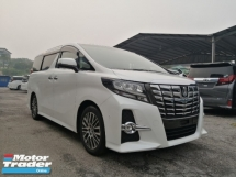 2016 TOYOTA ALPHARD 2.5 SC SUNROOF JBL AUTO PARKING UNREGISTERED