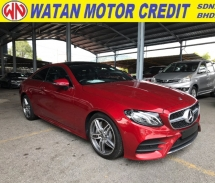 2018 MERCEDES-BENZ E-CLASS E300 COUPE AMG LINE PLUS PANORAMIC ROOF MEMORY SEAT POWER BOOTH 2018 UNREG