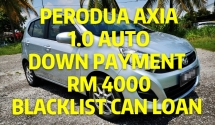 2015 PERODUA AXIA 1.0 AUTO / LOW MILEAGE / TIPTOP CONDITION / BLACKLIST CAN LOAN