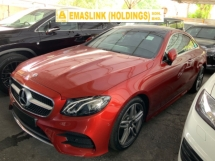 2018 MERCEDES-BENZ E-CLASS E300 AMG line plus psnoramic roof back camera memory seats push start unregistered