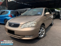 2002 TOYOTA ALTIS 1.8 G SPEC TIP TOP CONDITION TURE YEAR 2002