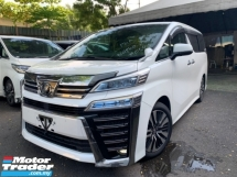 2018 TOYOTA VELLFIRE 2.5 ZG PRE CRASH LKA DIM PILOT SEATS LEATHER 3 POWER DOOR UNREG