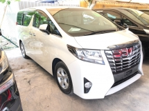 2015 TOYOTA ALPHARD 2AR-FE 360 Surround Camera Automatic Power Boot 2 Power Doors Intelligent Bi-LED Smart Entry Push Start 3 Zone Climate Control 9 Air Bags Unreg