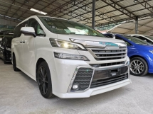 2016 TOYOTA VELLFIRE 2.5ZG Edition JBL PRE CRASH AUTO PARKING