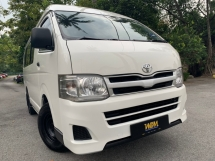 2012 TOYOTA HIACE 2.7 (M) 13 SEATER 1 OWNER TIPTOP ENIGINE GEAR BOX