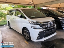 2016 TOYOTA VELLFIRE 2.5 ZG Fully Loaded JBL Home Theater Original 360 Surround Camera Pilot Memory Seat Sun Roof Moon Roof Power Boot 2 Power Doors Pre-Crash Radar Cruise Control Bluetooth Connectivity Unreg
