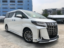 2018 TOYOTA ALPHARD 3.5 EXECUTIVE LOUNGE EL S MODELISTA JBL 4CAM ROOF LEATHER READY STOCK FACELIFT UNREG