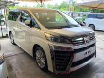 2018 TOYOTA VELLFIRE 2.5 Z precrash power boot 7 seaters facelift surround camera unregistered