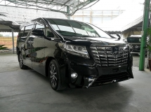 2015 TOYOTA ALPHARD 2.5 G POWER BOOT (CLEAR STOCK SALE)  UNREG 2015