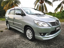 2012 TOYOTA INNOVA 2.0 G SPEC AUTO /  ONE OWNER / WILL MAINTAINED / TIPTOP CONDITION / LOW DOWN PAYMENT