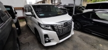 2016 TOYOTA ALPHARD S 2.5 / 8 SEATER / BLACK INT / ALPHINE JAPAN / 5 YEARS WARRANTY UNLIMITED KM