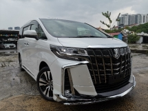 2018 TOYOTA ALPHARD 3.5 SAC FULL SPEC SUNROOF/PRE CRASH/FULL LEATHER/JBL/SURROUND CAM UNREG