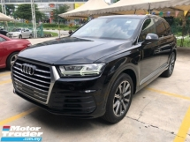 2016 AUDI Q7 3.0 S-Line Quattro New Model Turbocharged MMi-Touch Head Up Display Matrix LED Lights 7 Seat Auto-Foldable Dynamic Drive Select Multi Function Paddle Shift Steering Automatic Power Boot Reverse Camera Unreg