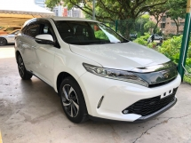 2017 TOYOTA HARRIER 2.0 Turbo 235hp New Facelift Pre-Crash Lane Departure Assist 360 Surround Camera Power Boot Intelligent Full-3LED Lights Dual Zone Climate Smart Entry Drive Hold Bluetooth 9 Air Bags Unreg