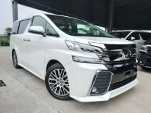 2016 TOYOTA VELLFIRE 2016 Toyota Vellfire 2.5 ZG JBL Home Theatre 4 Camera 360 View Pre Crash Pilot Seat Power Boot Unregister for sale