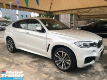 2015 BMW X6 M Sport xDrive 3.0 Twin-Turbo Pre-Crash Pedestrian Alert Lane Departure Alert Adaptive Intelligent Full-LED Lights Memory Seat Automatic Power Boot Sun Roof Sport PLUS Comfort Drive Select Multi Function Paddle Shift Steering Bluetooth Unreg