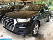 2016 AUDI Q7 3.0 S-Line Quattro Turbocharged MMi-Touch Head Up Display Multi-Matrix-LED Lights 7 Seat Auto-Foldable Dynamic Drive Select Multi Function Paddle Shift Steering Automatic Power Boot 4 Zone Deluxe Climate Control Hold Assist Reverse Camera Unreg
