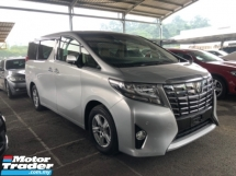 2015 TOYOTA ALPHARD Unreg Toyota Alphard X 2.5 2PowerDoor PowerBoot 360view 7Speed