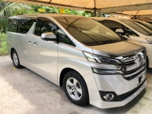 2016 TOYOTA VELLFIRE 2.5 2AR-FE 360 Surround Camera Sun Roof Moon Roof Automatic Power Boot Adaptive Bi LED Power Door Smart Entry Push Start Button Multi Function Steering 3 Zone Climate Control 9 Air Bags Unreg