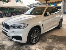 2015 BMW X6 M Sport 3.0 Twin-Turbo Pre-Crash Pedestrian Alert Lane Departure Alert Adaptive Intelligent Full-LED Lights Memory Seat Automatic Power Boot Sun Roof Sport PLUS Comfort Drive Select Multi Function Paddle Shift Steering Bluetooth Unreg