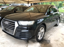 2016 AUDI Q7 3.0 S-Line Quattro Turbo Multi-Matrix-LED Lights 7 Seat Auto-Foldable MMi-Touch Head Up Display Dynamic Drive Select Multi Function Paddle Shift Steering Automatic Power Boot 4 Zone Deluxe Climate Control Hold Assist Reverse Camera Unreg