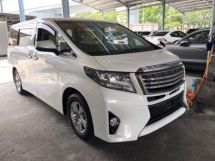 2016 TOYOTA ALPHARD Unreg Toyota Alphard X 2.5 8seather Camera 1PD PowerBoot 360view 7G