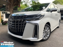 2018 TOYOTA ALPHARD 2.5 SA PRE CRASH LKA 2 POWER DOOR 7 SEATER UNREG