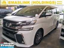 2015 TOYOTA VELLFIRE 2.5 ZG JBL SURROUND SOUND SYSTEM 360 CAMERA POWER BOOT 2 POWER DOOR AUTO CRUISE FREE WARRANTY