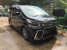 2015 TOYOTA VELLFIRE Unreg Toyota Vellfire ZG 7seats 360view PowerBoot SunRoof Home Theater JBL Sounds Push Start 7G