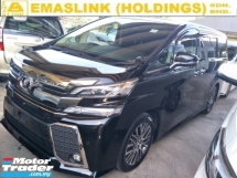 2015 TOYOTA VELLFIRE 2.5 ZG SUNROOF 360 CAMERA JBL SYSTEM POWER BOOT AUTO CRUISE FREE WARRANTY