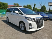 2015 TOYOTA ALPHARD 2.5 SA EDITION UNREGISTERED 5 YRS WARRANTY