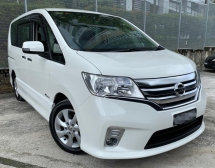 2013 NISSAN SERENA 2.0L HIGHWAY STAR MPV SEMI HYBIRD AT(TRUE YEAR MAKE)(LOW MILEAGE)(FULL SERVICE RECOND)(2 YEAR WARRANTY)(ONE OWNER)