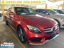 2015 MERCEDES-BENZ C-CLASS C200 AMG 2.0 AMG UNREGISTER SST INCLUSIVE 2.xx INTEREST RATE UP TO 9YEARS FULL LEATHER SEAT SPECIAL RED COLOR JAPAN SPEC NEW ARRIVAL PRICE NEGOTIABLE