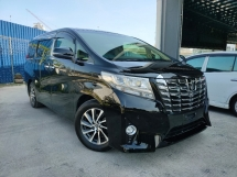 2015 TOYOTA ALPHARD 2015 Toyota Alphard 2.5 G Spec Power Boot 2 Power Door 7 Seater Unregister for sale