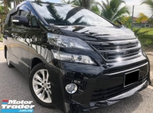 2013 TOYOTA VELLFIRE 2.4 (A) Condition Tiptop Power BOOT 1Jam Lulus Promotion Bank