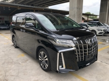 2018 TOYOTA ALPHARD 2.5 SC New Facelift Intelligent Full-3LED 360 Camera Pilot Memory Seat Automatic Power Boot 2 Power Doors Pre-Crash Lane-Departure-Assist Smart Entry Push Start Multi Function Steering Ventilation Leather Seats 9 Air Bags 3 Zone Climate Unreg