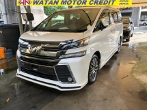 2016 TOYOTA VELLFIRE 2.5ZG Edition FULL SPEC JBL HOME THEATER SUNROOF NO HIDDEN CHARGES