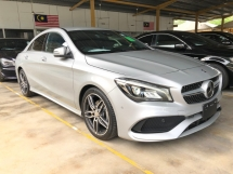 2017 MERCEDES-BENZ CLA CLA180 AMG Premium Turbo NEW FACELIFT Distronic-PLUS Pre-Crash Memory Bucket Seat Paddle Shift Intelligent Full-LED Keyless-GO Smart Entry Ambient Package Sport PLUS Bluetooth Apple CarPlay Active Lane Keeping Assist Active Blind Spot Active Brake Unreg