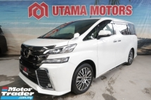 2016 TOYOTA VELLFIRE 2.5 ZG PRE CRASH ROOF MONITOR CNY SALE SPECIAL