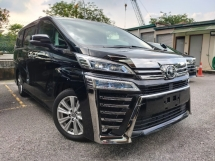 2018 TOYOTA VELLFIRE 2018 Toyota Vellfire 2.5 ZA Facelift Pre Crash LTA Digital Mirror 2 Power Door 7 Seater Unregister for sale