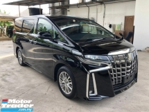 2018 TOYOTA ALPHARD 2.5 SA New Facelift 360 Surround Camera 7 Seat Passenger Foot Rest Automatic Power Boot 2 Power Doors Intelligent Full-LED Lights Pre-Crash Radar System Lane Departure Assist Brake Hold Keyless-GO Smart Entry 9 Air Bags Unreg