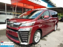 2018 TOYOTA VELLFIRE 2.5 (A) ZA- EDITION HIGH SPEC NEW FACELIFT + LOW MILEAGE + JBL + 360 CAMERAS + DIGITAL INNER MIRROR + RAREST RED COLOR