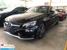 2017 MERCEDES-BENZ C-CLASS Unreg Mercedes Benz C300 2.0 AMG Coupe Panaromic Roof PowerBoot Paddle Shift