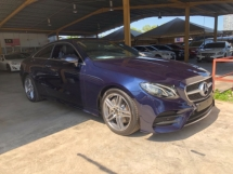 2018 MERCEDES-BENZ E-CLASS Unreg Mercedes Benz E300 2.0 AMG Coupe Panaromic Roof PowerBoot